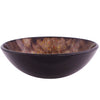 Brown Spotted Glass Vessel Sink