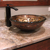 Hand Painted Brown Tan Textured  Glass Vessel Sink , lifestyle