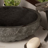 black granite vessel sink with Cascade faucet
