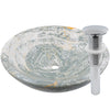 blue onyx stone vessel sink umbrella drain in chrome