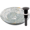 blue onyx stone vessel sink umbrella drain in oil rubbed bronze
