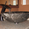 Natural Stone Round Coffee Marble Vessel Sink, lifestyle
