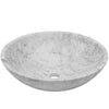 white marble stone vessel sink