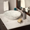 white marble stone vessel sink, lifestyle