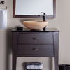 honey onyx stone vessel bathroom sink with faucet