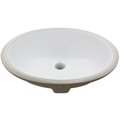 Oval Undermount White Porcelain Sink