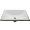 Rectangular Undermount White Porcelain Sink with Overflow