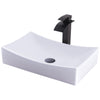 Rectangular Porcelain Sink Set
