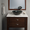 Black and Silver pattern vessel sink lifestyle