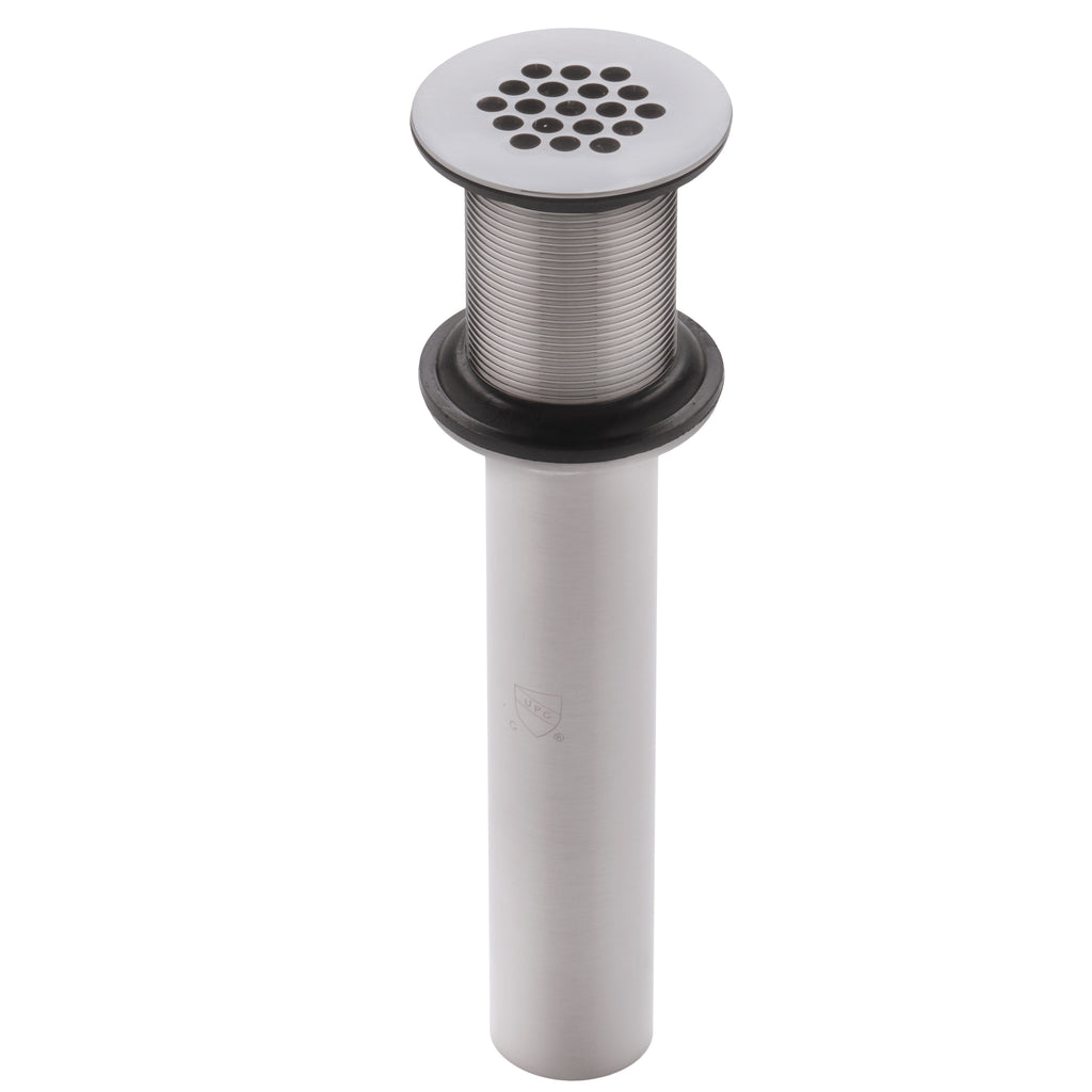 19 hole grid strainer drain for bath sink in brushed nickel