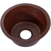 Round Hammered Copper Bar Sink