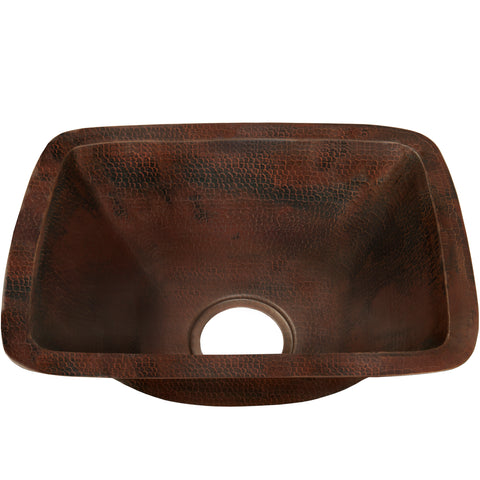 Rectangle Hammered Copper Bar Sink, TCB-002AN Cordoba