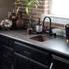Square Hammered Copper Bar Sink lifestyle