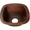 Square Hammered Copper Bar Sink