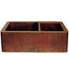 farmhouse apron 60/40 copper kitchen sink