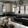 curved farmhouse copper kitchen sink lifestyle
