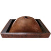 antique copper drop-in sink