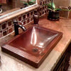 antique copper drop-in sink with STD-ORB lifestyle