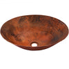 oval hammered copper bath sink