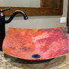 modern copper vessel bathroom sink lifsetyle