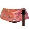 modern copper vessel bathroom sink with strainer drain