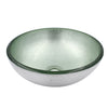 "12"" mini silver glass vessel sink"