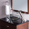 waterfall faucet with glass vessel slipper sink GF-001BN-C w/ TIG-8012C PUD-BN