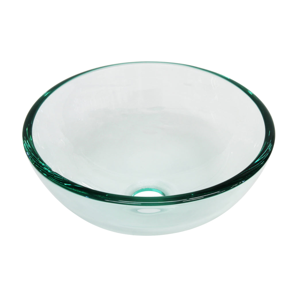 clear 12 inch round glass vessel sink