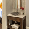 grey square glass bathroom sink lifestyle