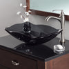 rectangular glass vessel sink lifestyle