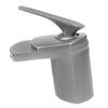 single handle brushed nickel lav faucet