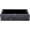 black granite stone vessel sink