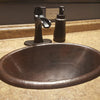 Hammered Antique Copper Drop-in Bath Sink