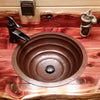 hammered copper bath sink