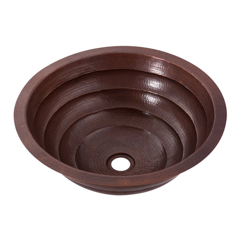 round copper undermount sink