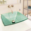 green square glass bathroom sink lifestyle