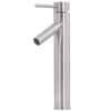 bathroom vessel faucet in brushed nickel