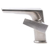 Contemporary Single Handle Lavatory Faucet brushed nickel