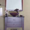 brown round glass sink lifestyle