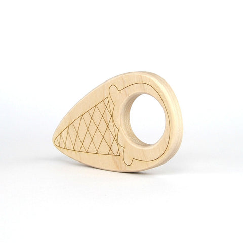 Ice Cream Cone Wood Toy Teether