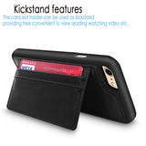 For Apple iPhone 6 / 6S 4.7 inch Premium Leather Wallet Back Case Credit Card Slots with Stand Feature Shockproof Cover
