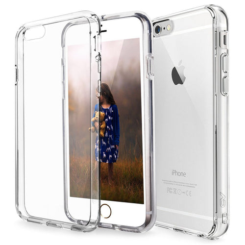 iPhone 6 Case, iPhone 6S Case, Cellularvilla [Clear Cushion] Hybrid Hard PC Back Transparent Clear Case [Scratch Resistant] Shock Absorption Soft Bumper Cover for Apple iPhone 6 / 6S 4.7 inch (Clear)