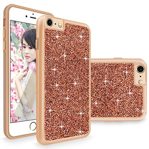 Iphone 6 6s Case Cellularvilla Slim Fit Luxury Bling Jewel Rock Crystal Rhinestone Diamond Case Shockproof Dual Layer Protective Cover For