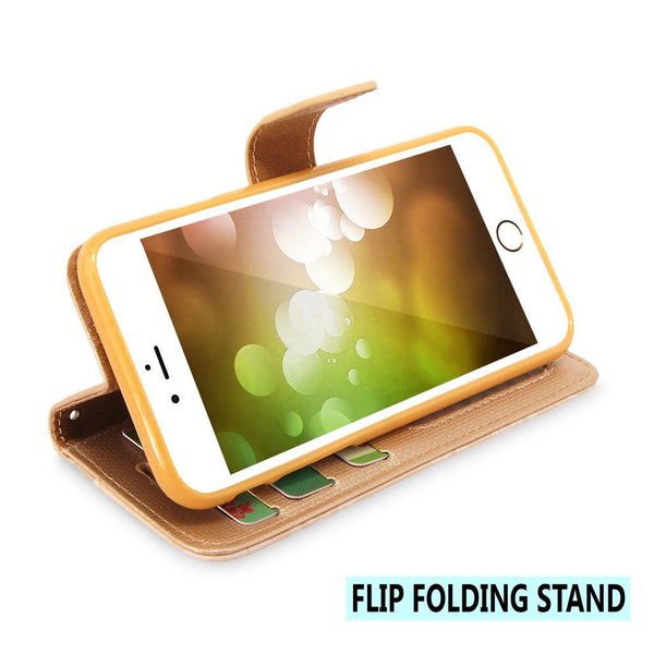 iPhone 6 Plus / 6s Plus Case, Cellularvilla [Stand Feature] Flower Texture [Diamond] Premium Wallet Case [3 Card Slots] Flip Cover For Apple iPhone 6 Plus / iPhone 6S Plus 5.5 inch
