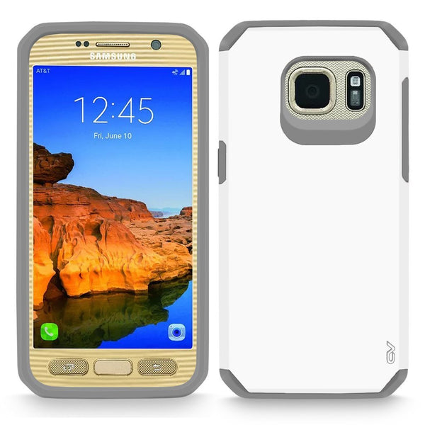 Galaxy S7 Active Case, Cellularvilla [Heavy Duty] High Impact Dual Layer Protection Case [Hard Soft] Tough Armour Shock Reduction Bumper Cover For Samsung Galaxy S7 Active SM-G891