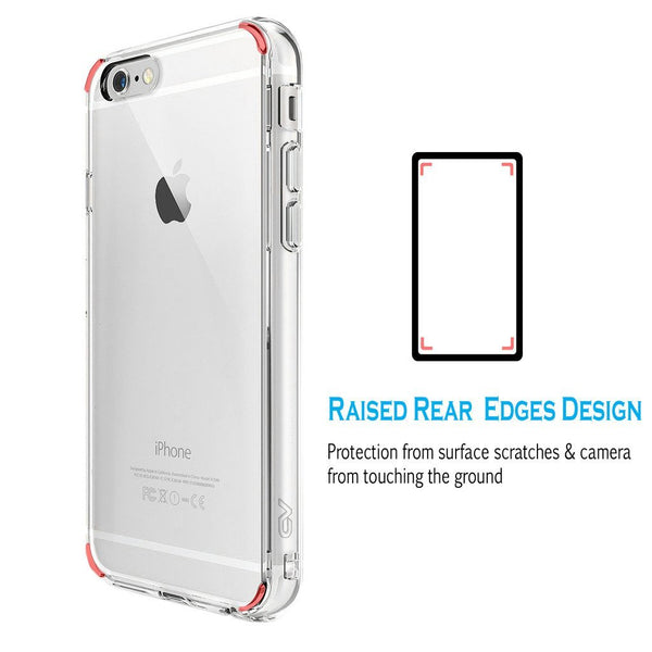 iPhone 6 Plus / 6S Plus Case, Cellularvilla [Clear Cushion] Hybrid Hard Back Panel Clear Case [Scratch Resistant] Shockproof Soft Bumper Cover for Apple iPhone 6 Plus / iPhone 6S Plus 5.5 inch (Clear)