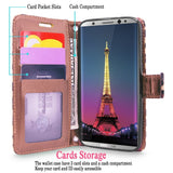 S8 Case, Galaxy S8 Wallet Case, Cellularvilla [Slim] [Card Slot] Premium Pu Leather Wallet Case [Wristlet] [Drop Protection] Flip Protective Stand Cover For Samsung Galaxy S8