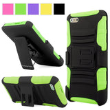 Apple Iphone 6 6S Case - Cellularvilla Hard Soft Dual Layer Hybrid Armor Holster Kickstand Case with Locking Belt Swivel Clip Cover for Apple iPhone 6 6S 4.7