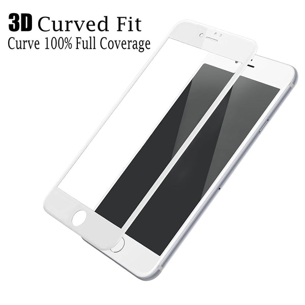 iPhone 6 / 6S Screen Protector, Cellularvilla 3D Full Screen Tempered Glass Protector with Curved Edge [Anti Scratch] Cover Edge to Edge Screen Glass For Apple iPhone 6 / iPhone 6S 4.7 Inch