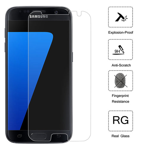 Galaxy S7 Screen Protector, (2 Pack) Cellularvilla [Anti Scratch] [Bubble Free] [Dust Free] Premium Crystal Clear 2.5D Curved Tempered Glass Screen Guard Protector For Samsung Galaxy S7